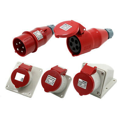 400V 16/32Amp 5Pin Industrial Plugs Or Socket IP44 Male/Female Connector 3P+N+E