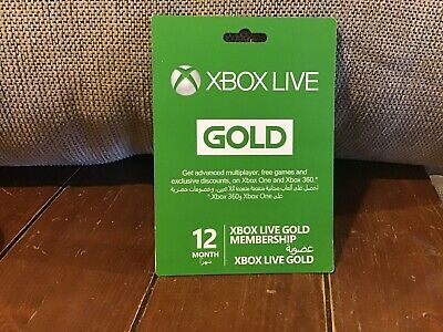Microsoft Xbox LIVE 12 Month Gold Membership for Xbox 360/ONE Please Read Detail