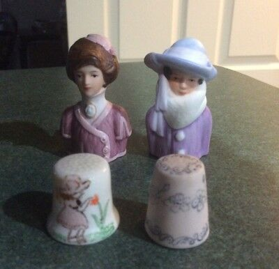 Vintage Avon signed perfume toppers 1982 1983 Mrs. Albee's Thimbles included