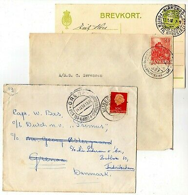 Denmark 2 covers, 1 corr. card with nice Danish canc. , one from The Netherlands