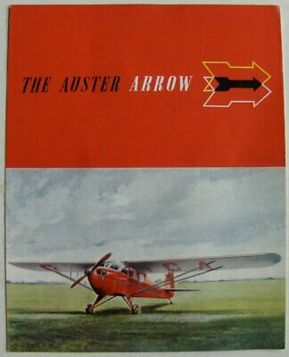 AUSTER AIRCRAFT LEICESTER ARROW c1950s SALES FOLD - OUT BROCHURE