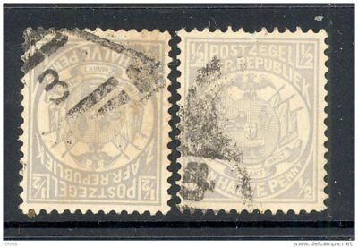 TRANSVAAL, postmark 5 and 3 in triangle on S. African Republic stamp (D)