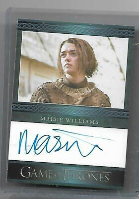 Game of Thrones Autograph Maisie Williams  as Arya Stark