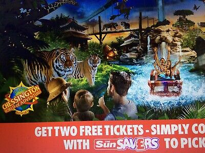 Great Sun Offer 2 X Chessington Tickets All 9 Codes
