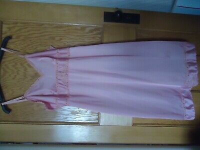 Charnos lace full slip, pink, size 16, light use, freshly laundered, no snags.