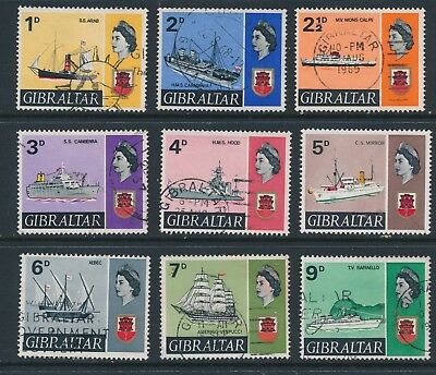 GIBRALTAR, 1967 ships to 9d very fine used (N)