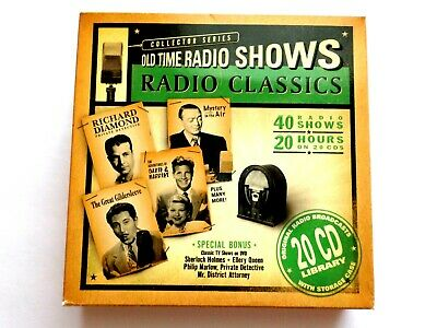 CD collector series Old Time Radio Shows radio classics 40 shows 20 hours