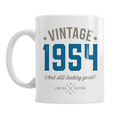 65th Birthday Gift 1954 Present Idea For Men Women Ladies Dad Party Happy 65 Mug