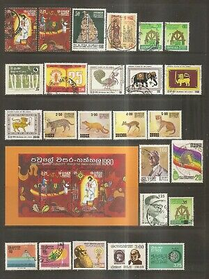Asia - Stamps - From Sri Lanka.