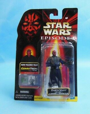 Star Wars Episode I DARTH MAUL Sith Light Saber Collection 1 Commtech Chip 1999