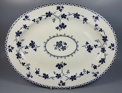 Royal Doulton Yorktown (Ribbed) Tc1013 Oval Serving Platter / Meat Plate 34Cm