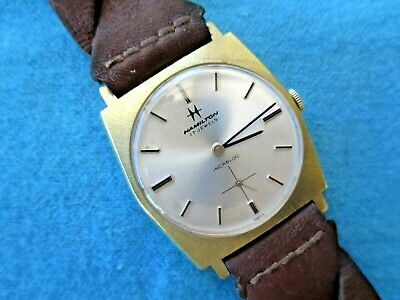 BEAUTIFUL RARE HAMILTON GENTS VINTAGE WATCH.FAB HEXAGONALCASE/GREAT DIAL.1960's