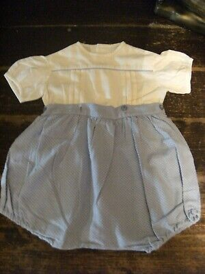 Antique 1940'S /50'S Original Baby Boy All In One