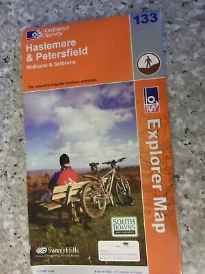 Ordnance Survey Explorer Map Haslemere & Petersfield.