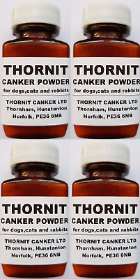 THORNIT CANKER POWDER - EAR MITES TREATMENT FOR DOGS, CATS & RABBITS - 4 x 20g