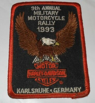 Harley Davidson vintage Aufnäher 9th annual Rally 1993 Karlsruhe Germany