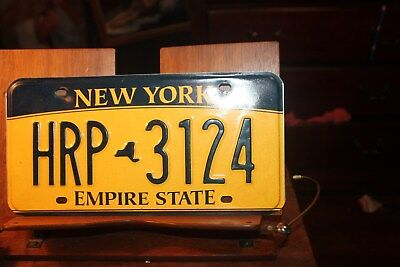 2010 New York Empire State License Plate HRP 3124 (1ST OF A PAIR)