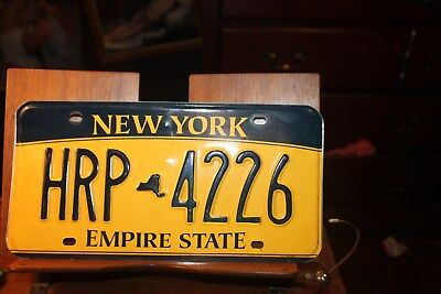 2010 New York Empire State License Plate  HRP 4226 BENT