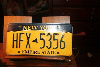 2010 New York Empire State License Plate HFX 5356