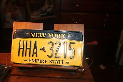 2010 New York Empire State License Plate  HHA 3215 BENT