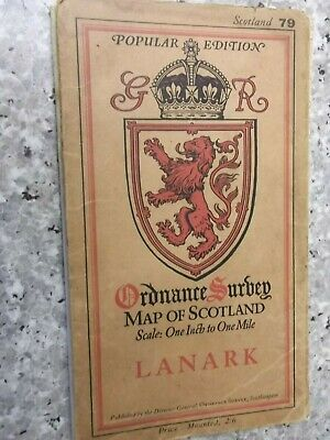 Ordnance Survey Popular map of Scotland Lanark.Clo