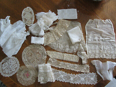 Large Lot of Antique Lace and Trims for Crafting