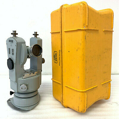 Carl Zeiss Theodolite TH 43 Survey Transit with Original Case