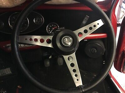 "Austin 1300GT Mini Steering Wheel 15"" Leather Works Rally"
