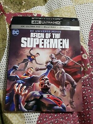Reign of the Supermen 4k ultra hd and bluray with slipcover. No digital code. DC