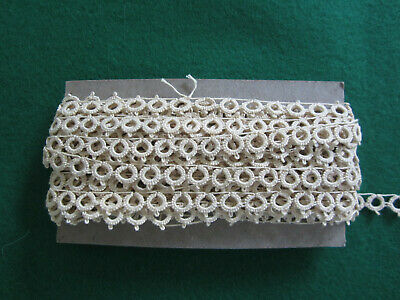 Antique Vintage Tatted Lace Trim Many Yards