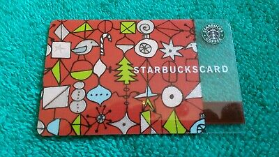 2002 STARBUCKS Ornament Gift Card Signs of Normal Use ALL Light - Used Excellent