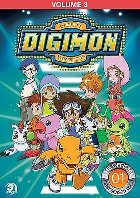 Digimon Digital Monsters Volume 3 DVD NEW 15 Episodes From First Season.