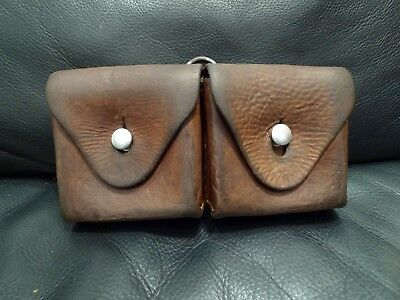 Swiss Army Leather Cartridge 2 Pouch K31/11 Mauser From 1945