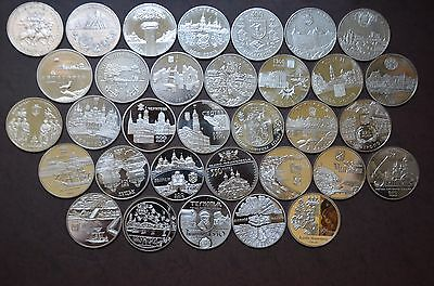 5 Hryven x 35 coins full series Ancient cities of Ukraine 1999-2017 Ukraine