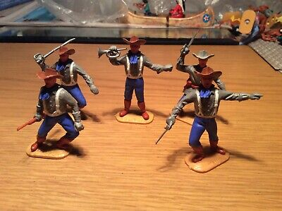 5 Timpo confederate soldiers with weapons