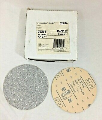 "Crystal Bay Hookit 02284 Disc 6"" P40 Grit Box of 50"