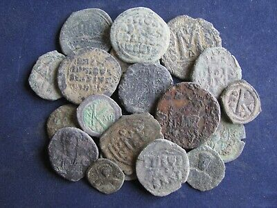 20 Genuine Ancient Byzantine Bronze Coins,Unresearched, Some Good Detail
