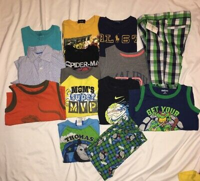 Lot Of Toddler Boys 4t 5t Clothes 13 Items