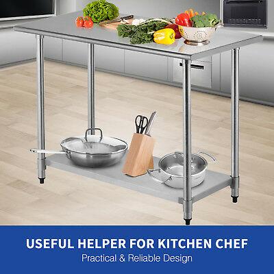 "24"" x 48"" Stainless Steel Work Table Commercial Food Prep Kitchen Restaurant"