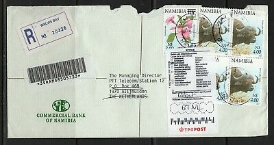 Namibia Cover - Walvis Bay 28.04.2004 Commercial Bank Retour Cover to Netherland