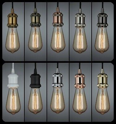 Retro Vintage Ceiling Light Bulb Holder Pendant Kitchen Island Bar Cafe Dining