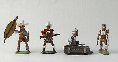 7 Pcs King and Country Zulu Soldiers NO RESERVE Lot 15 of 50