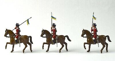 3 Pcs Mounted Indian Soldiers in Turbans with Lances NO RESERVE Lot 20 of 50