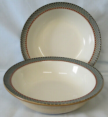 Denby Luxor Soup or Cereal Bowl Set of 2, USED