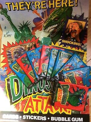 Topps 1988 Dinosaurs Attack Bubble Gum Trading Cards Wax Pack