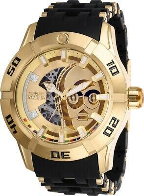 Invicta Watch Star Wars Mens 50 mm Gold Dial Model-26550