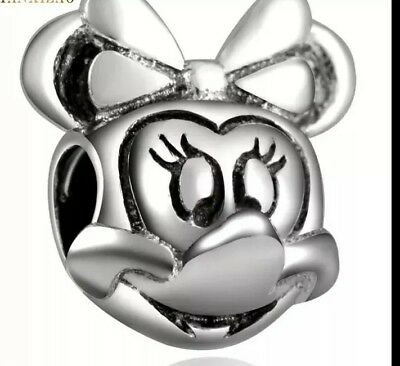 ONE Disney Mickey ONE Minnie Mouse  CHARM bead S925 sterling silver Hallmarked