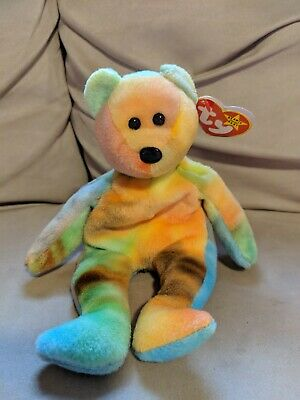 c87194e4081 TY BEANIE BABY~GARCIA the bear~Retired~TAG ERRORS~MWMT~PVC~ 4051 ...
