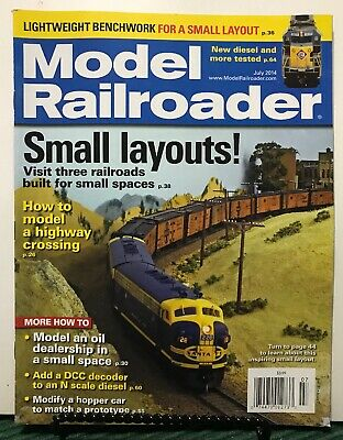 MODEL RAILROADER SMALL Layouts Lightweight Benchwork July 2014 FREE  SHIPPING JB