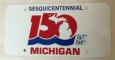 1987 Michigan Sequicentennial Front Promotional License Plate (De Tour}
